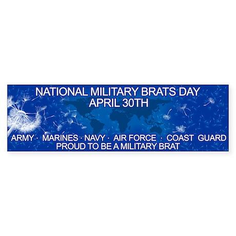 National military brats day bumper bumper sticker