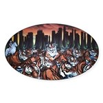 Tigers in New York Painting Art Sticker