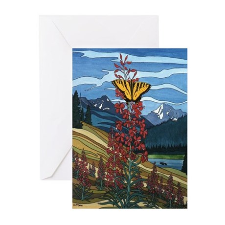 Canadian Landscape Butterfly Greeting Cards (Pk o