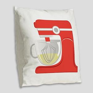 Mixer Burlap Throw Pillow
