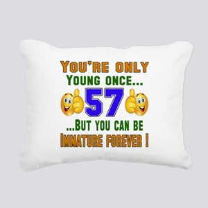 You're only young once.. Rectangular Canvas Pillow