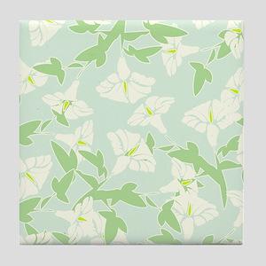 Spring Floral Pattern Tile Coaster