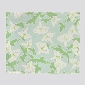Spring Floral Pattern Throw Blanket