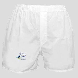 Gratitude Blue Bird Boxer Shorts