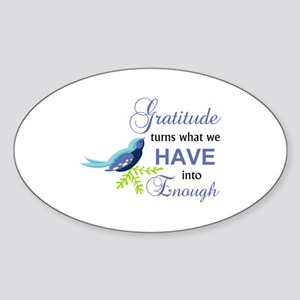 Gratitude Blue Bird Sticker