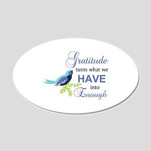 Gratitude Blue Bird Wall Decal
