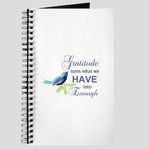 Gratitude Blue Bird Journal