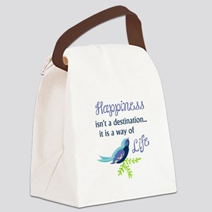 Happiness Is Canvas Lunch Bag