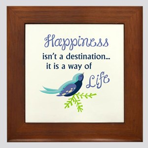 Happiness Is Framed Tile