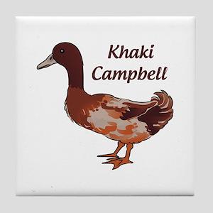 Khaki Campbell Duck Tile Coaster