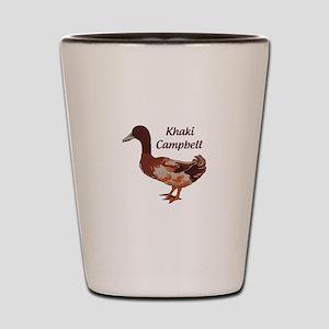 Khaki Campbell Duck Shot Glass