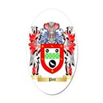 Pett Oval Car Magnet