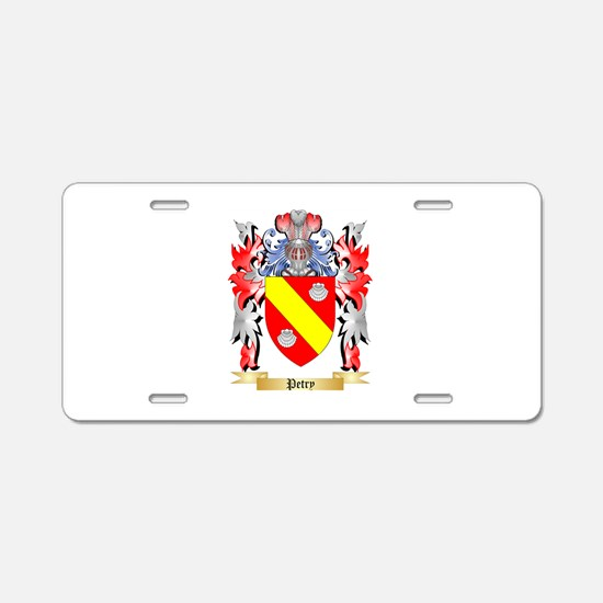 Petry Aluminum License Plate