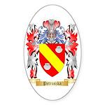 Petruszka Sticker (Oval 10 pk)