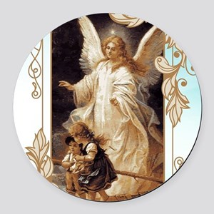 Angel of God (Day) Round Car Magnet