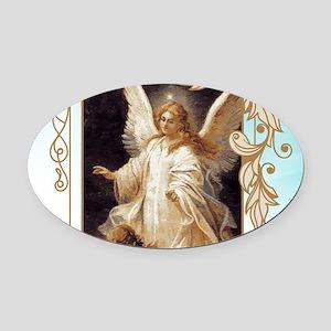 Angel of God (Day) Oval Car Magnet