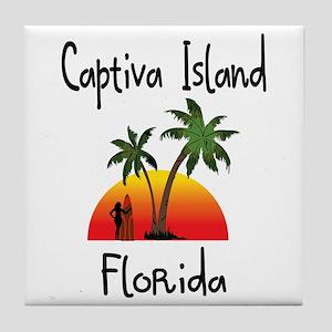 Captiva Florida Tile Coaster