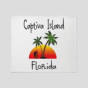 Captiva Florida Throw Blanket