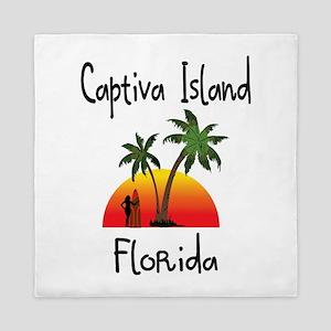 Captiva Florida Queen Duvet