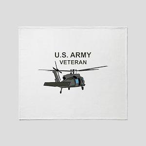 US Army Veteran Throw Blanket