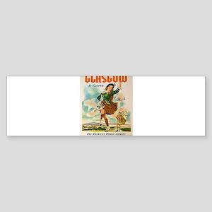 Vintage poster - Glasgow Bumper Sticker