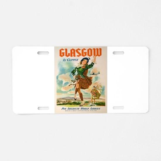 Vintage poster - Glasgow Aluminum License Plate