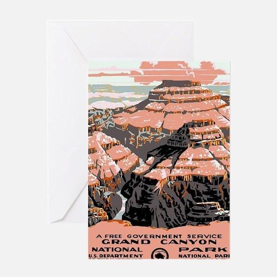 Cute Vintage national parks Greeting Card