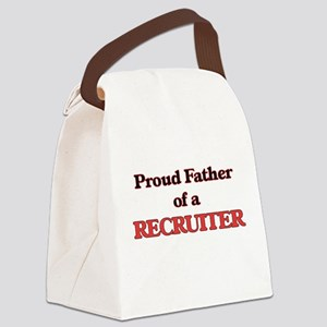 Proud Father of a Recruiter Canvas Lunch Bag