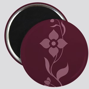 Burgundy And Pink Flower Magnets