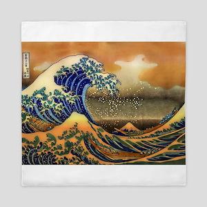 The Great Wave off Kanagawa Queen Duvet