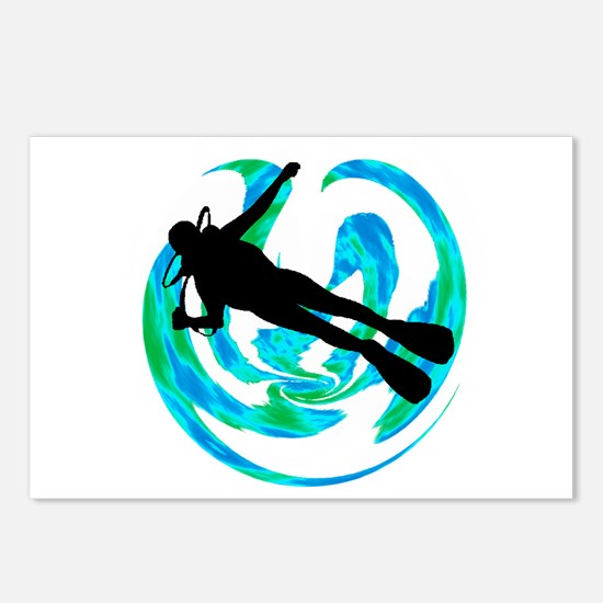 SCUBA Postcards (Package of 8)
