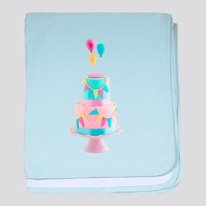 Birthday cake baby blanket