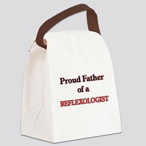 Proud Father of a Reflexologist Canvas Lunch Bag