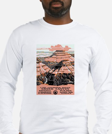 Vintage poster - Grand Canyon Long Sleeve T-Shirt