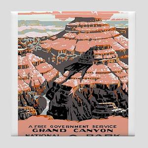 Vintage poster - Grand Canyon Tile Coaster