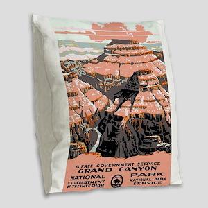 Vintage poster - Grand Canyon Burlap Throw Pillow