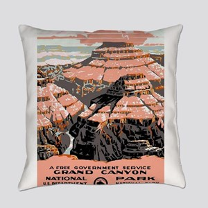 Vintage poster - Grand Canyon Everyday Pillow