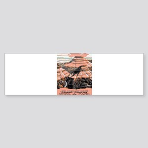 Vintage poster - Grand Canyon Bumper Sticker
