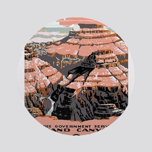 Vintage poster - Grand Canyon Round Ornament