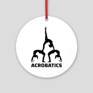 Acrobatics Round Ornament