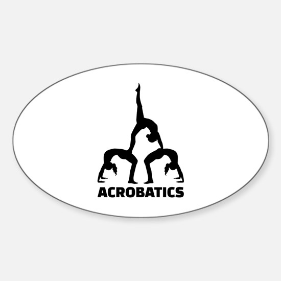 Acrobatics Sticker (Oval)