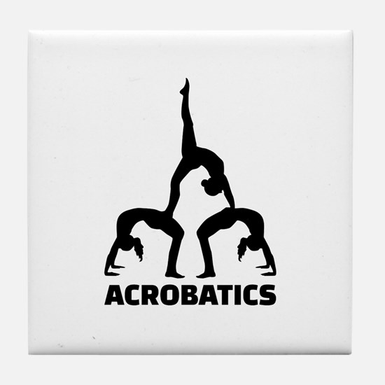 Acrobatics Tile Coaster
