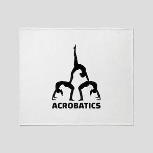 Acrobatics Throw Blanket