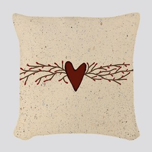 Pip Berry Heart Swag Woven Throw Pillow