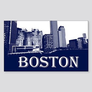 Boston From Fort Point Channel Sticker