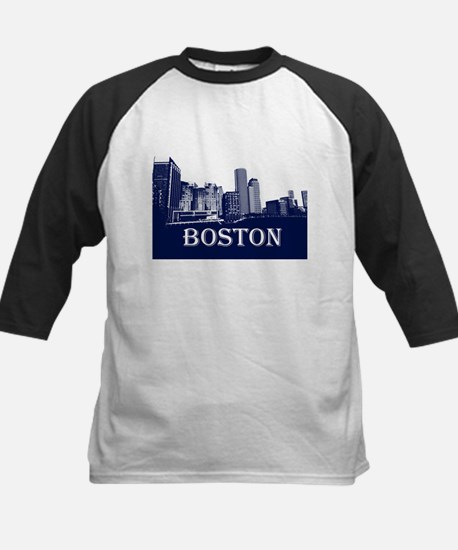 Boston From Fort Point Channel Baseball Jersey