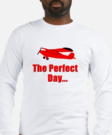 Red Airplane Long Sleeve T-Shirt