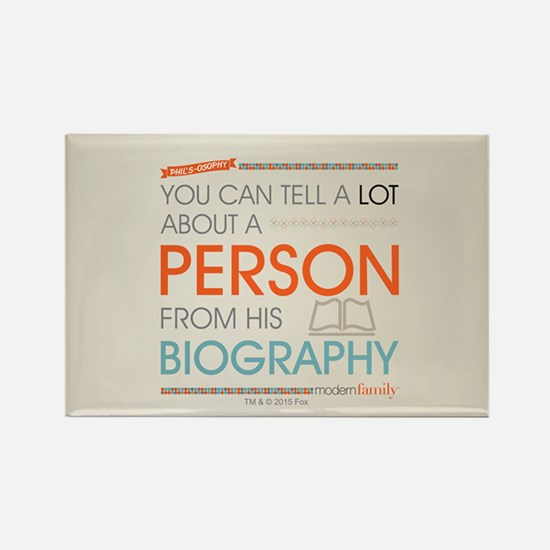 Modern Family Philsosophy Biograp Rectangle Magnet