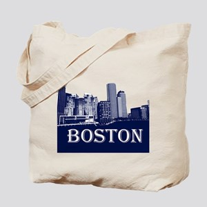 Boston From Fort Point Channel Tote Bag