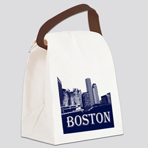 Boston From Fort Point Channel Canvas Lunch Bag